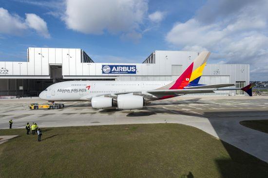 韩亚航空坠机视频_韩亚航空公司首架空客A380飞机完成喷漆(图)_军事_环球网