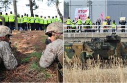 美韩进行联合登陆演习 韩民众抗议军演呼吁对话