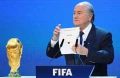FIFA高官:世界杯投票问心无愧 是英媒挑事