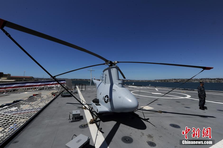 """""""科罗纳多""""号滨海战斗舰上的无人机"""