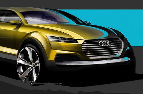 奥迪q4 suv设计图公布 北京车展首发