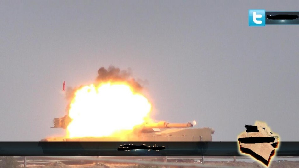 伊拉克M1A1被火箭弹击中起火