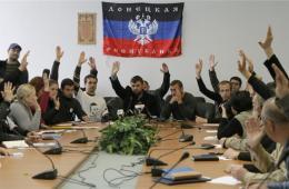 乌亲俄民众占领顿涅茨克政府大楼 自诩政府成员投票