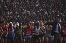 朝鲜举办万景台奖马拉松赛 纪念金日成诞辰
