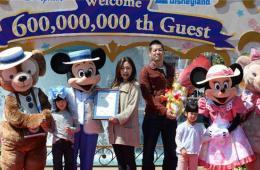 东京迪士尼乐园迎来第6亿名游客