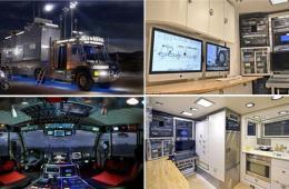 男子造巨型旅游车带女儿环游世界:配浴室无人机