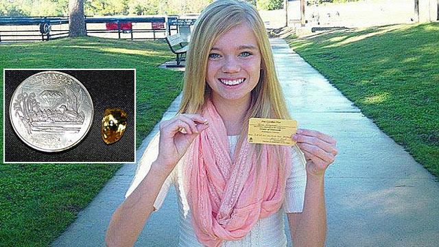 美国女孩公园中挖出近四克拉宝石卖得2万美金