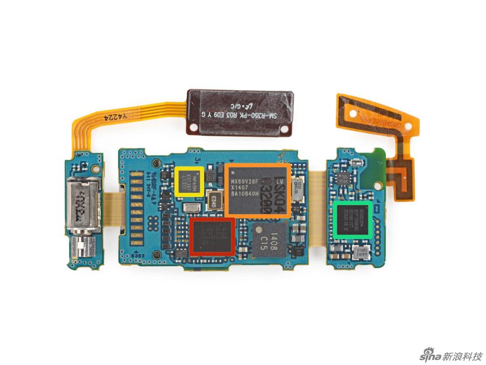 结构简单 三星智能手环gear