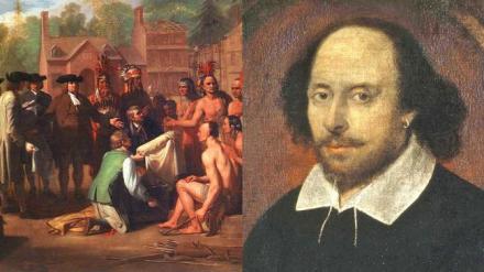 英国殖民美国时莎士比亚还在世:1616年,即莎士比亚写下《马克
