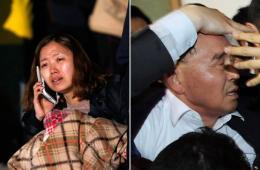 韩沉船事故家属对救援迟缓愤怒 总理慰问被围堵泼水