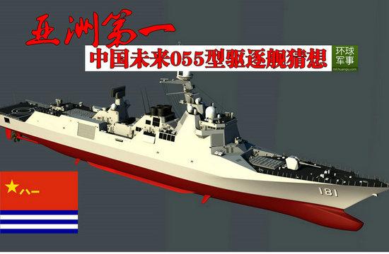 亚洲第一:中国海军未来055型驱逐舰猜想