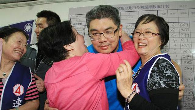 连胜文赢得台北市长党内初选 马英九致电连战恭贺