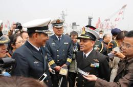 各国护卫舰抵达青岛参加西太平洋海军论坛年会