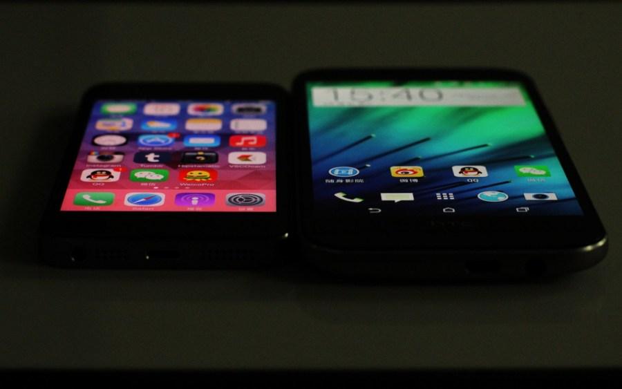 htc iphone 顶级/顶级旗舰对决HTC One M8对比iPhone 5s(13/37)