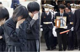 韩国沉没客轮遇难师生葬礼举行