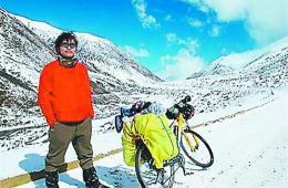 台湾小伙患白血病 14个月骑行大半个中国
