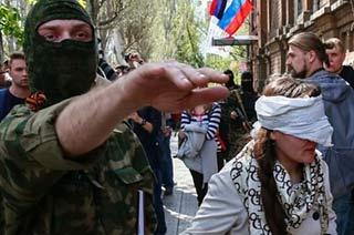 亲俄武装抓了乌克兰女记者不放