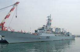 巴基斯坦军舰抵达青岛参加西太平洋海军论坛