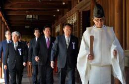 """日本146名议员集体""""拜鬼"""" 规模系史上第三"""