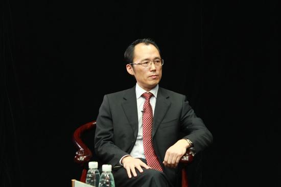 章剑/海盐县县长章剑接受环球网记者采访