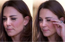 苍蝇落在凯特王妃眼睛上 摄影师捕捉王妃驱蝇瞬间