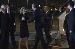 奥巴马抵达日本羽田机场 开始对日正式访问