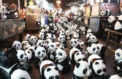 纸熊猫快闪最终回 现身台北宁夏夜市