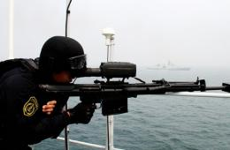 中外海军19艘舰艇举行军演 我哈尔滨舰任指挥舰