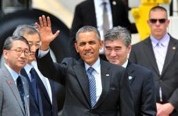 奥巴马离开日本 开始访问亚洲第二站韩国