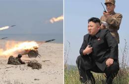 金正恩指导女兵发射火箭弹 众人拥抱哭泣
