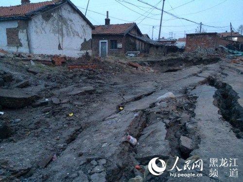 黑龙江鸡西滴道地下接连发生爆炸 部分民宅受损