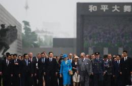 丹麦女王参观侵华日军南京大屠杀遇难同胞纪念馆