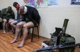 乌克兰特种部队军官被抓脱裤示众
