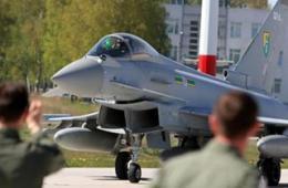 英军台风战机到俄乌附近转悠