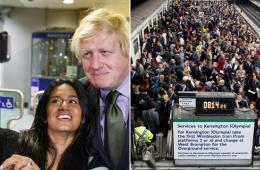 伦敦地铁罢工人满为患 市长淡定与乘客自拍