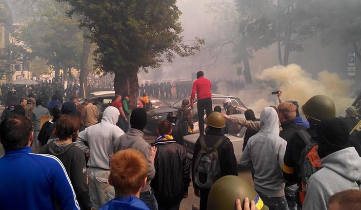 乌重镇敖德萨动乱 工会大楼起火致43人死