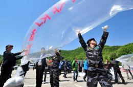脱北者在韩国用气球对朝鲜散发宣传品