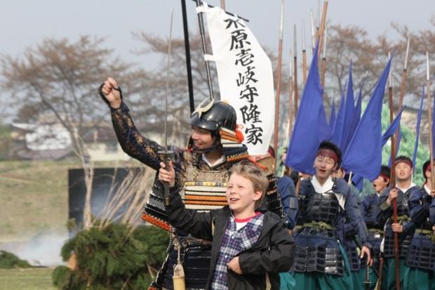 日本山形县再办米泽上杉祭 重现战国时代场面