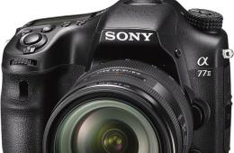 索尼高级APS-C单电相机A77 II图赏