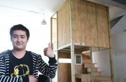 大学生设计小木屋可蜗居 一居室造价不足一万
