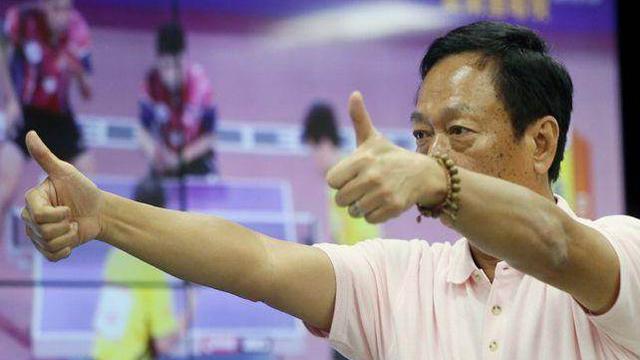 郭台铭允诺将在台湾建造大陆国家级规格的乒球馆