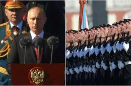 普京于胜利日首访入俄后克里米亚 检阅俄海军舰队