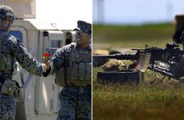 美军士兵在罗马尼亚参加多国联合军演