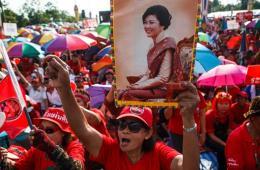 泰国红衫军街头示威声援政府 或与反对派对决