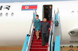 金正恩携妻观看空军飞行技术大赛 疑似专机首曝光