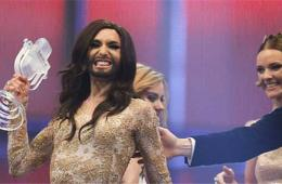 """奥地利""""变装皇后""""沃斯特赢得欧洲歌唱大赛"""