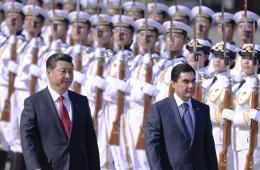 习近平欢迎土库曼斯坦总统访华 女仪仗兵首亮相