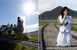 北美大陆铁路建成145周年 华人赴当地纪念中国劳工