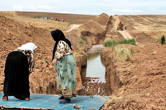 伊拉克北部挖2米深渠阻挠不法分子入境
