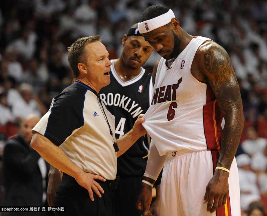 NBA季后赛 热火4-1篮网晋级东决